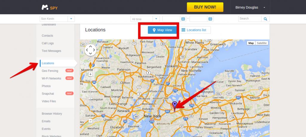 mSpy para localizar un iPhone