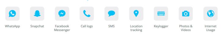 funciones de mSpy para espiar iPhone